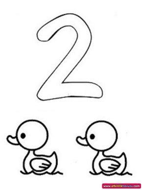 Okul öncesi 2 Sayısı Boyama Sayfası Googleda Ara 2 Preschool