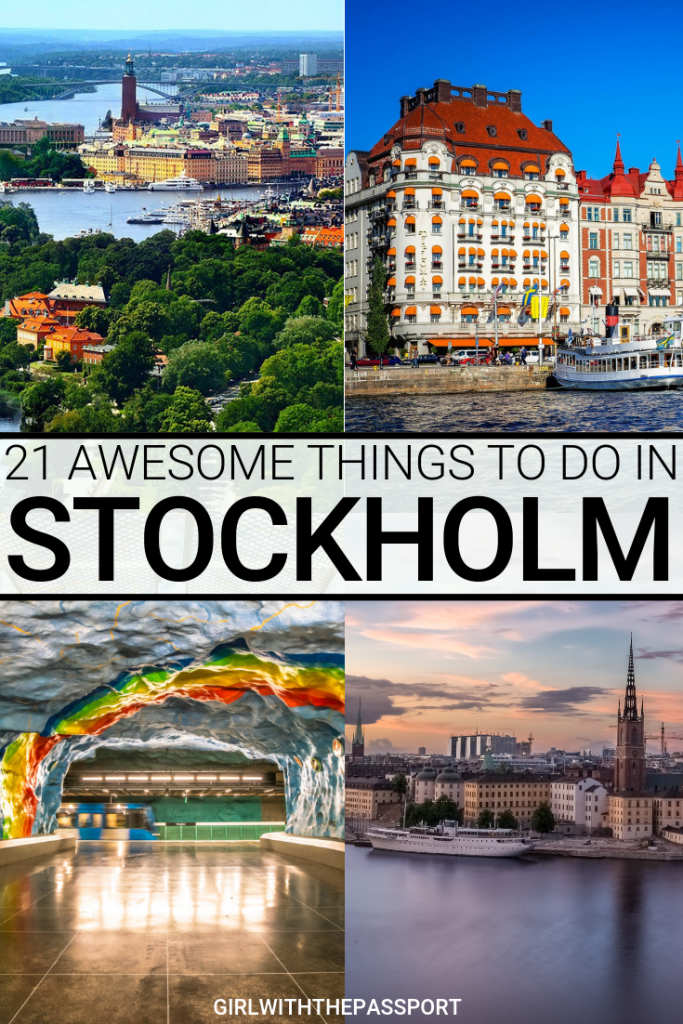 From exquisite seaside views to enchanting architecture to awe-inspiring boat tours, there are so many exciting things to do in Stockholm. So if you're wondering what to do in Stockholm, then check out this destination guide. You'll find some secret Stockholm travel tips about the best things to do in Stockholm. You'll also learn about some unique things to do in Stockholm, and about some of the best places to eat in Stockholm. #StockholmTravel #StockholmGuide #StockholmTips #StockholmSweden #St