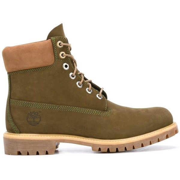 Timberland lace up boots ($280) ❤ liked on Polyvore