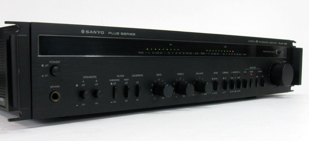SANYO PLUS A35 STEREO AMPLIFIER AMP w MANUAL 50 WPC * NICE
