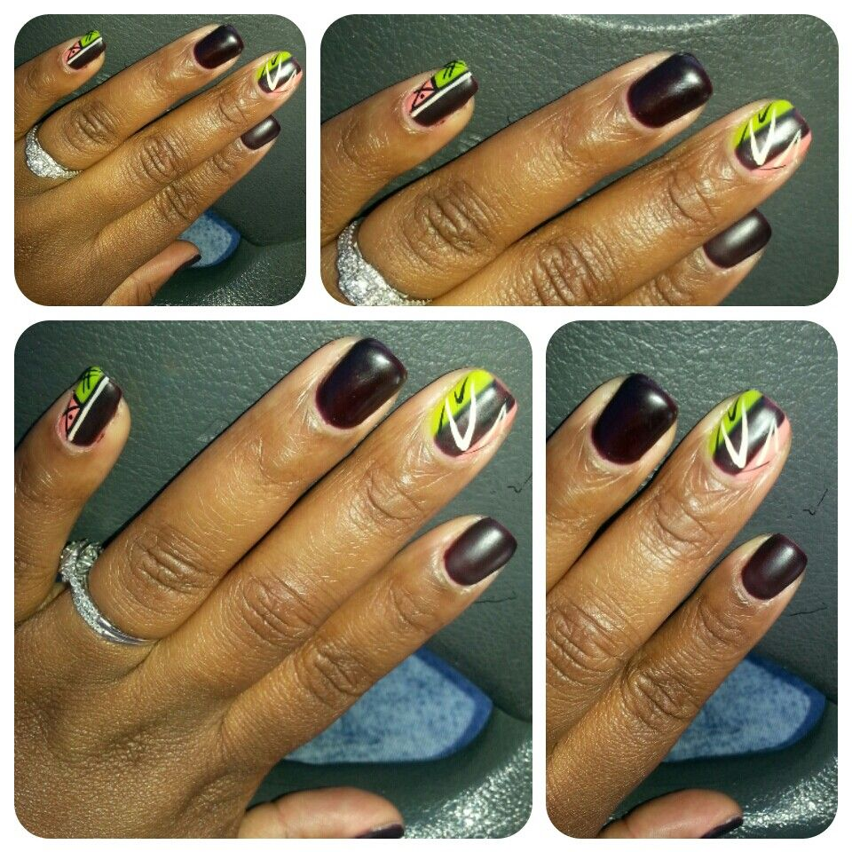 Ibdjustgelpolish natural nails, nailart, ibdmatte, fall color, plum ...