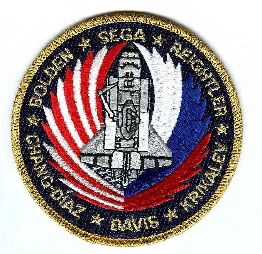 Mission Patches On Mission 4 To The International Space: NASA STS-60 Discovery Mission Patch - U.S Version