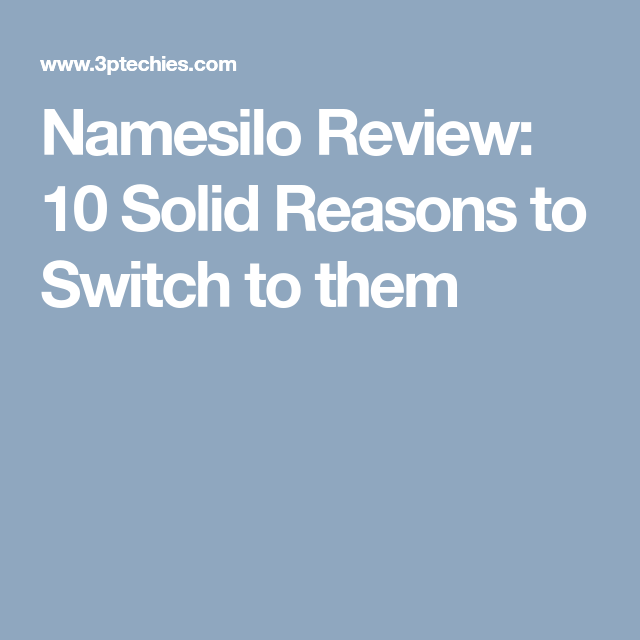 Namesilo Review 2020: Is it Any Better? (Latest Coupons ...
