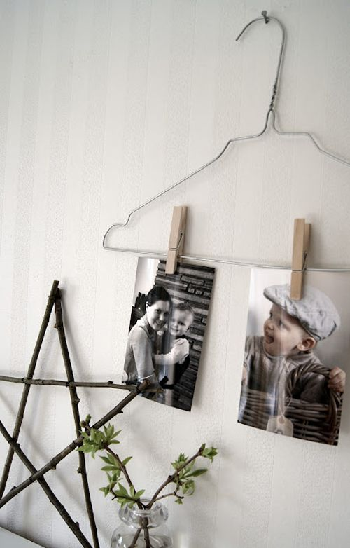 Super cute photo hanger idea. NIB - Norwegian interior blogs