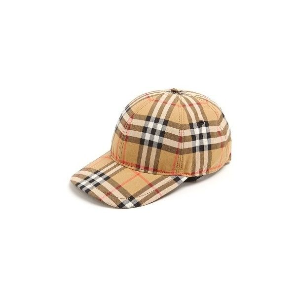 Burberry House-checked cotton cap (€260) ❤ liked on Polyvore featuring men s 2b8aac21feb