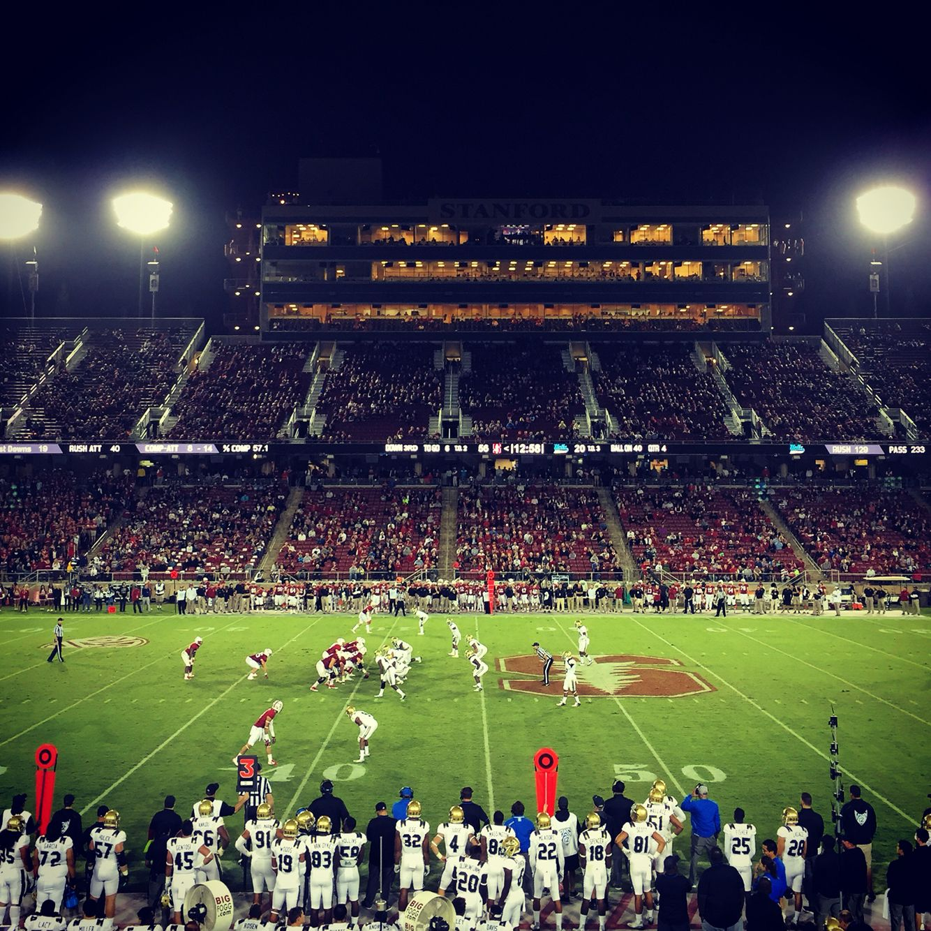 Staring Down The 50 Yard Line In Stanford Stadium Www Pigskinpursuit Com