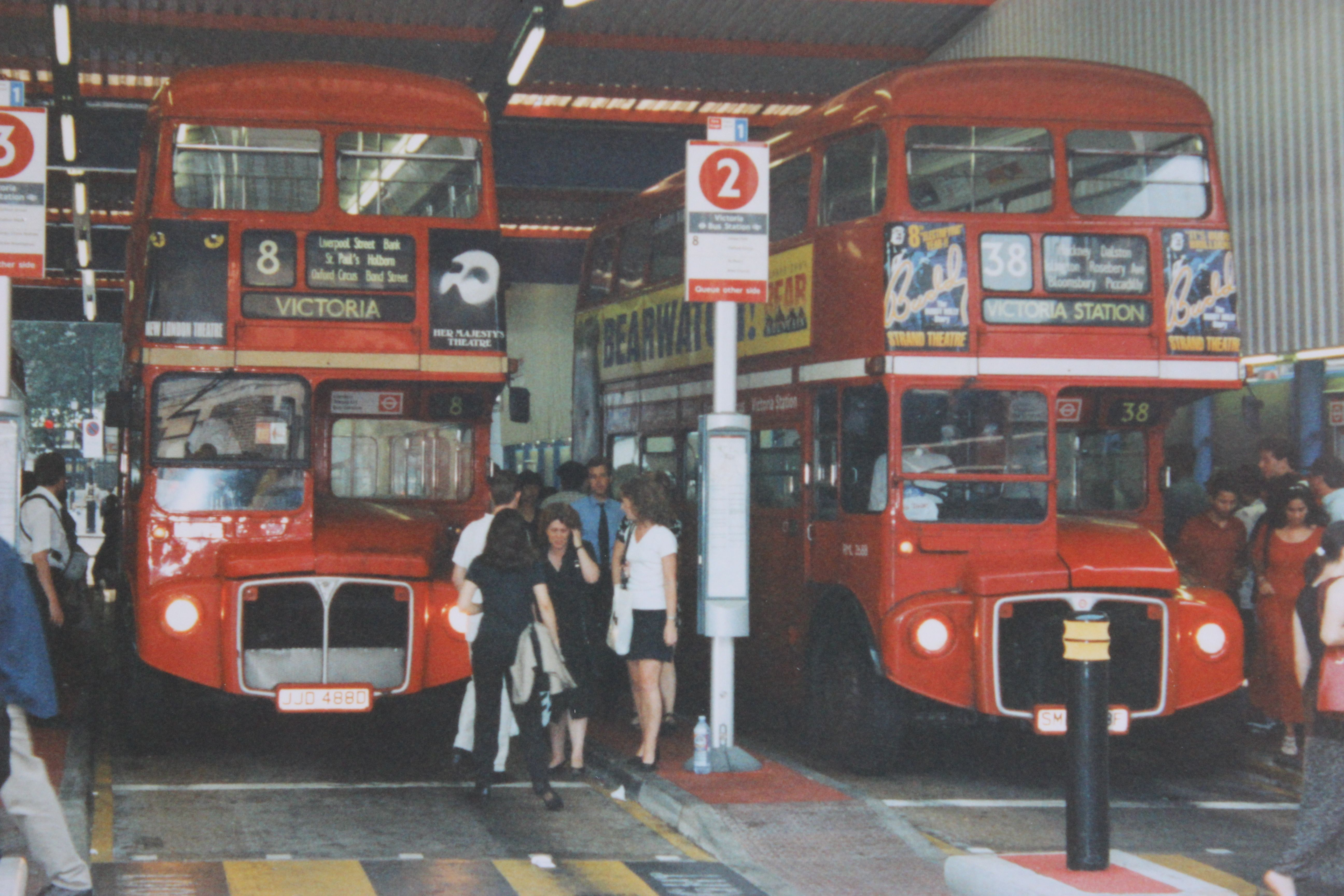 'Routemaster' buses at Victoria Bus Station