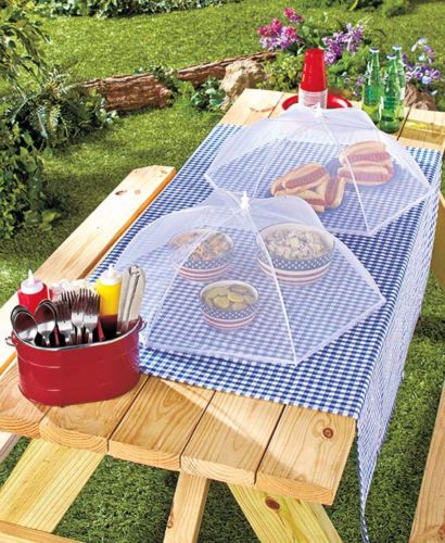 Mesh Food Tent Covers Set of 2 Picnics C&ing Barbecue Protection from Bugs NEW & Mesh Food Tent Covers Set of 2 Picnics Camping Barbecue Protection ...