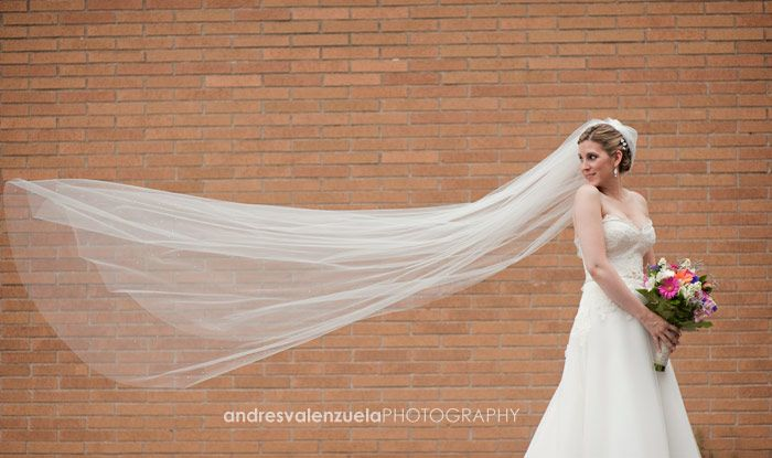 I think that that is such a beautiful shot of the Bride! Her veil blowing in the wind, very romantic!