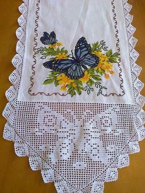 Borboleta Com Imagens Decoracao De Croche Quadrados De Croche