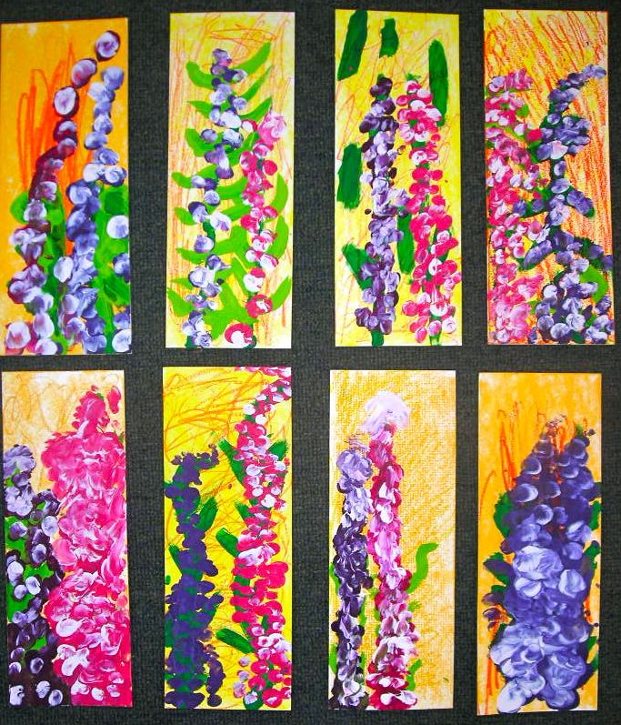 Awesome Kinder Wildflowers! | Art for Kinder | Art lessons