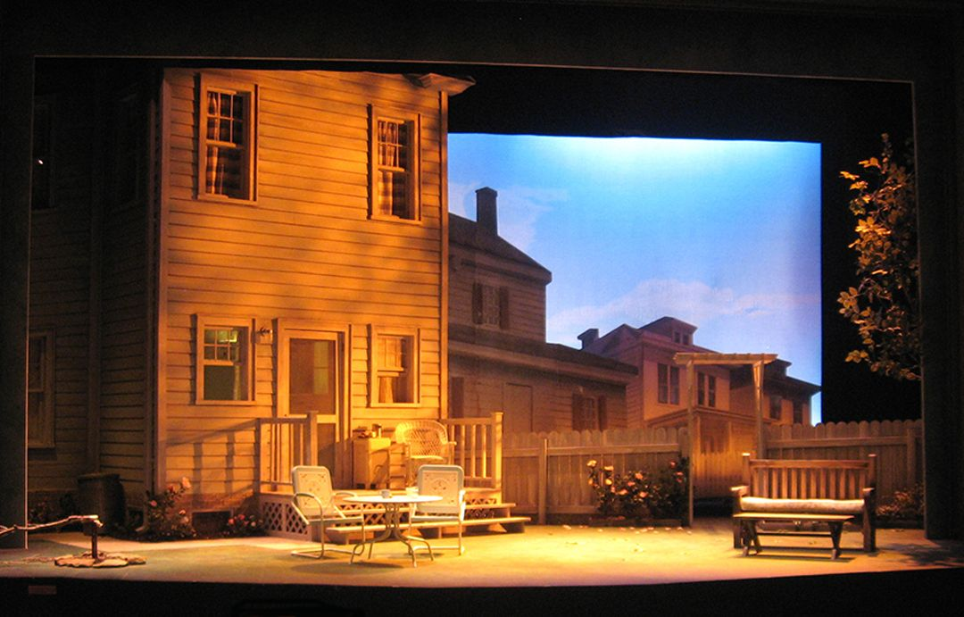 All My Sons. Barrington Stage Company. Scenic design by David M. Barber. 2012