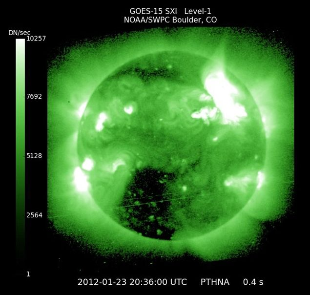 NOAA Issues Another Space Weather Warning: Powerful Solar ...  |2005 Solar Flare