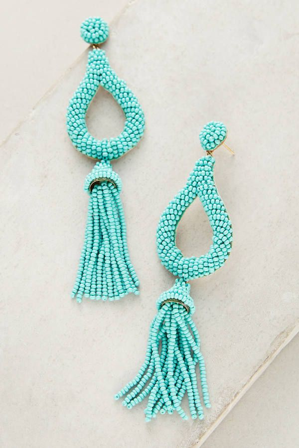 00a60bcca7925a Tassel Drop Earrings , looks like Oscar de la renta statement, seed beads,  summer, spring, fiesta, teenager posts, easter basket ideas, easter outfit,  ...