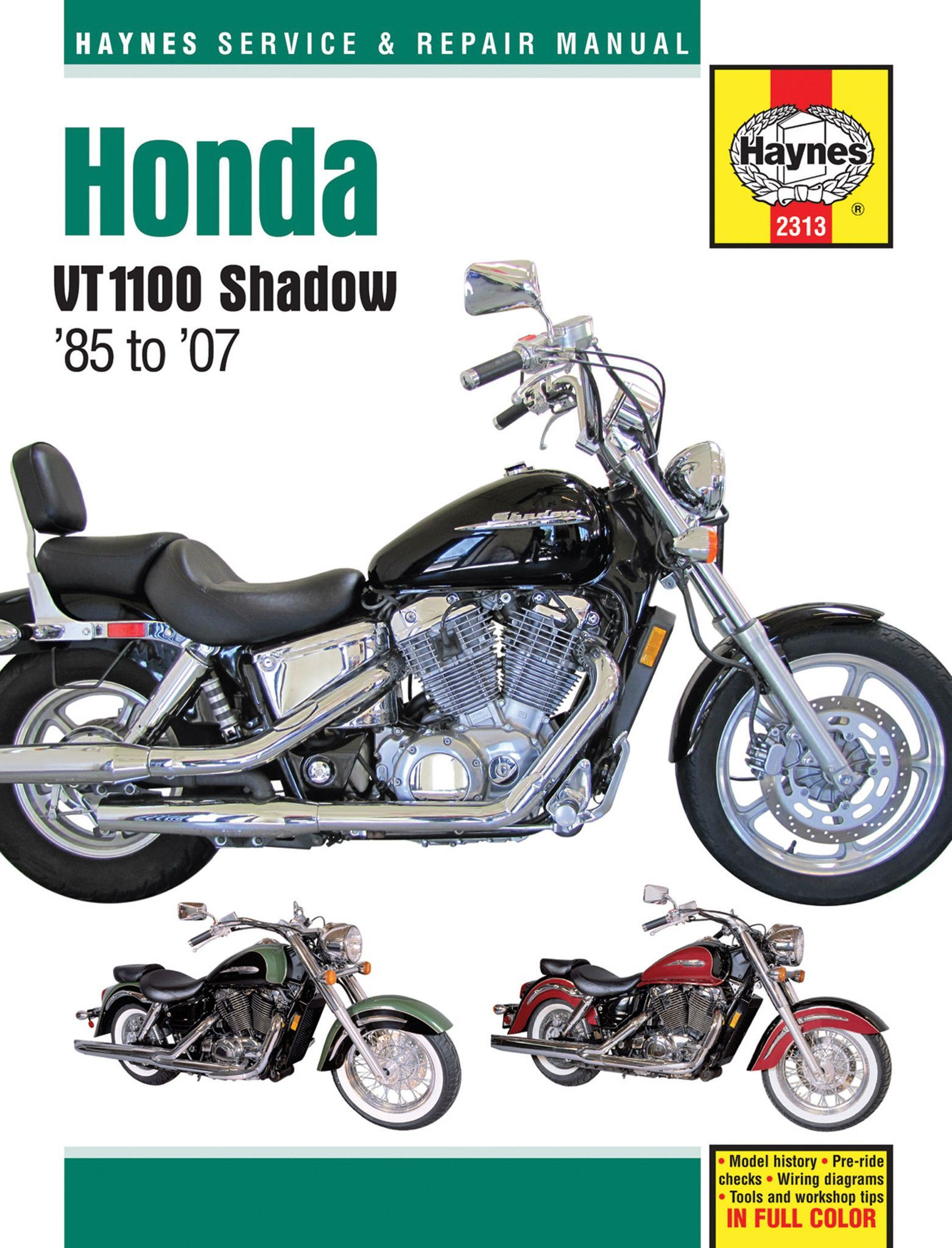 haynes m2313 service repair manual for 1985 07 honda shadow vt1100 rh pinterest com 2012 honda shadow aero owner's manual Honda Shadow 600