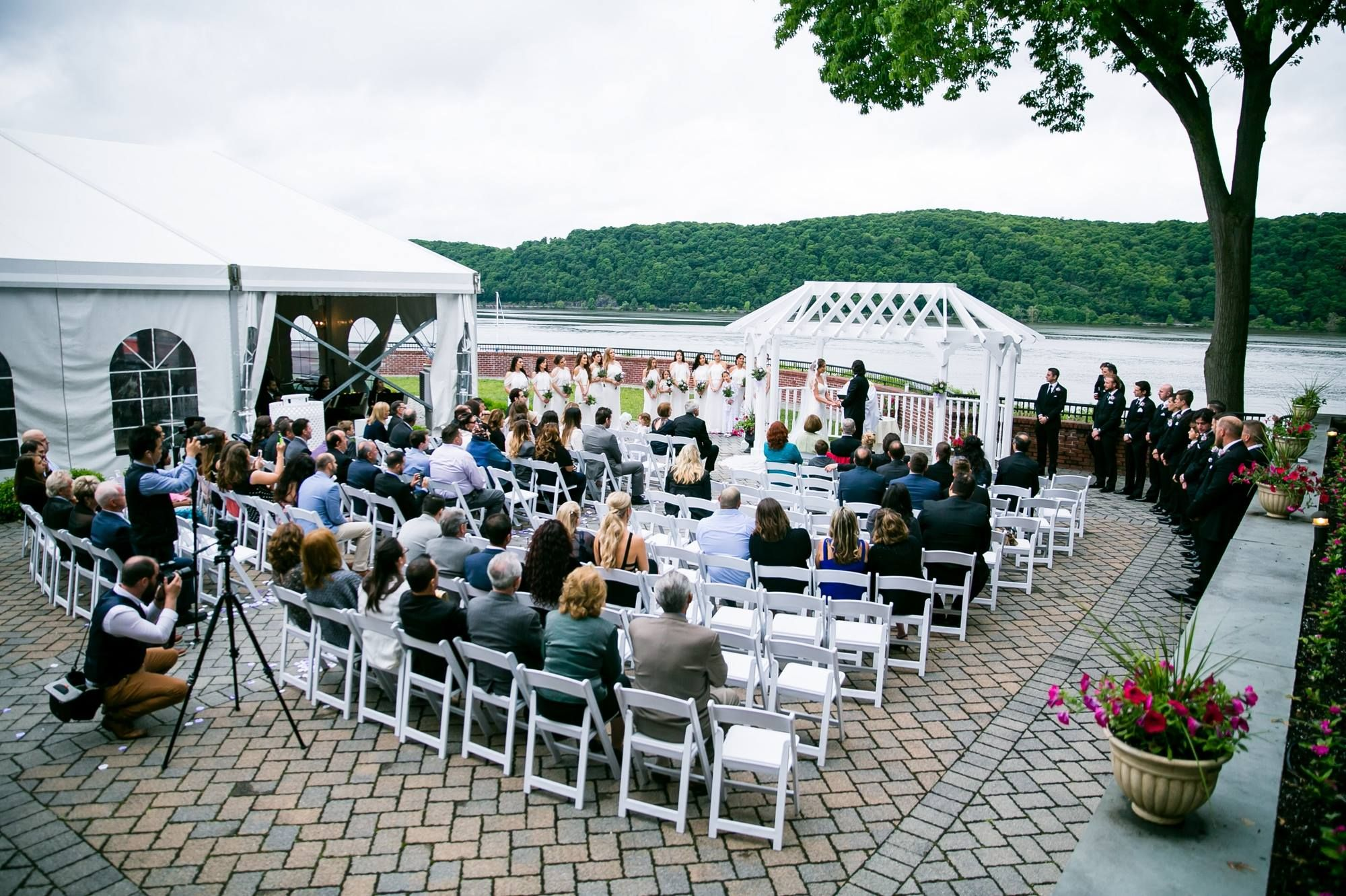 Spring Outdoor Ceremony Site With The Hudson River