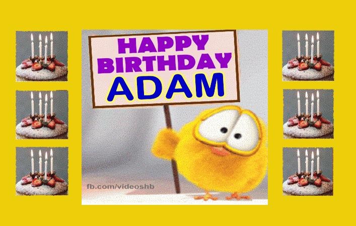 Happy Birthday Adam Images Goruntuler Ile