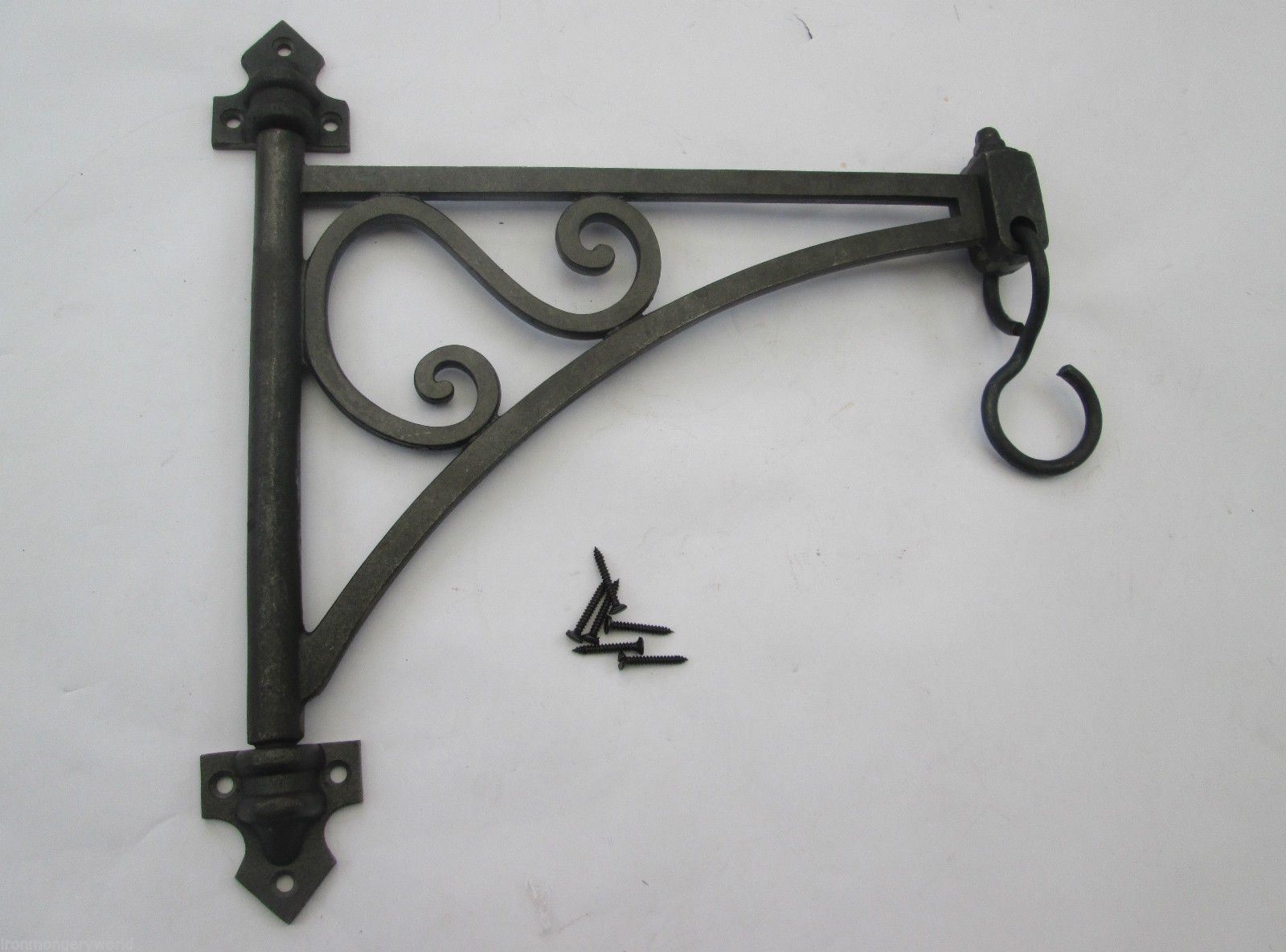 Art Deco Hanging Basket Brackets : Cast iron swivel vintage style wall bracket for hanging