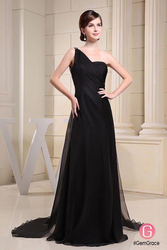 Flowy Long Black Formal Dress Gemgrace Occassion Wear Pinterest