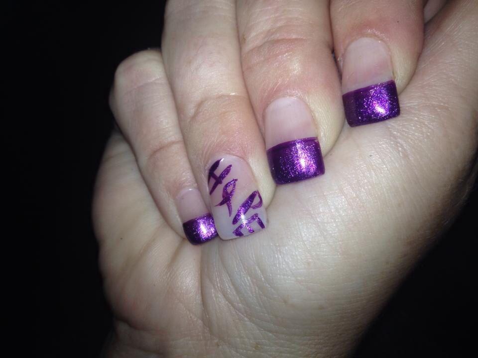 Epilepsy Nails Purple Knights Nails Makeup Nails Nail Designs