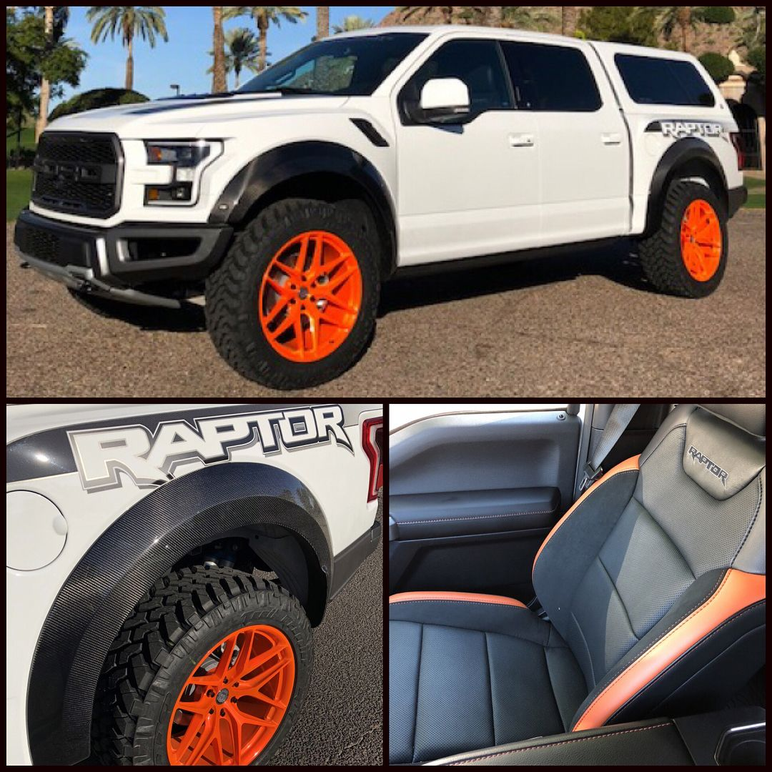 FOR SALE 2018 Ford F150 Raptor SuperCrew, white over
