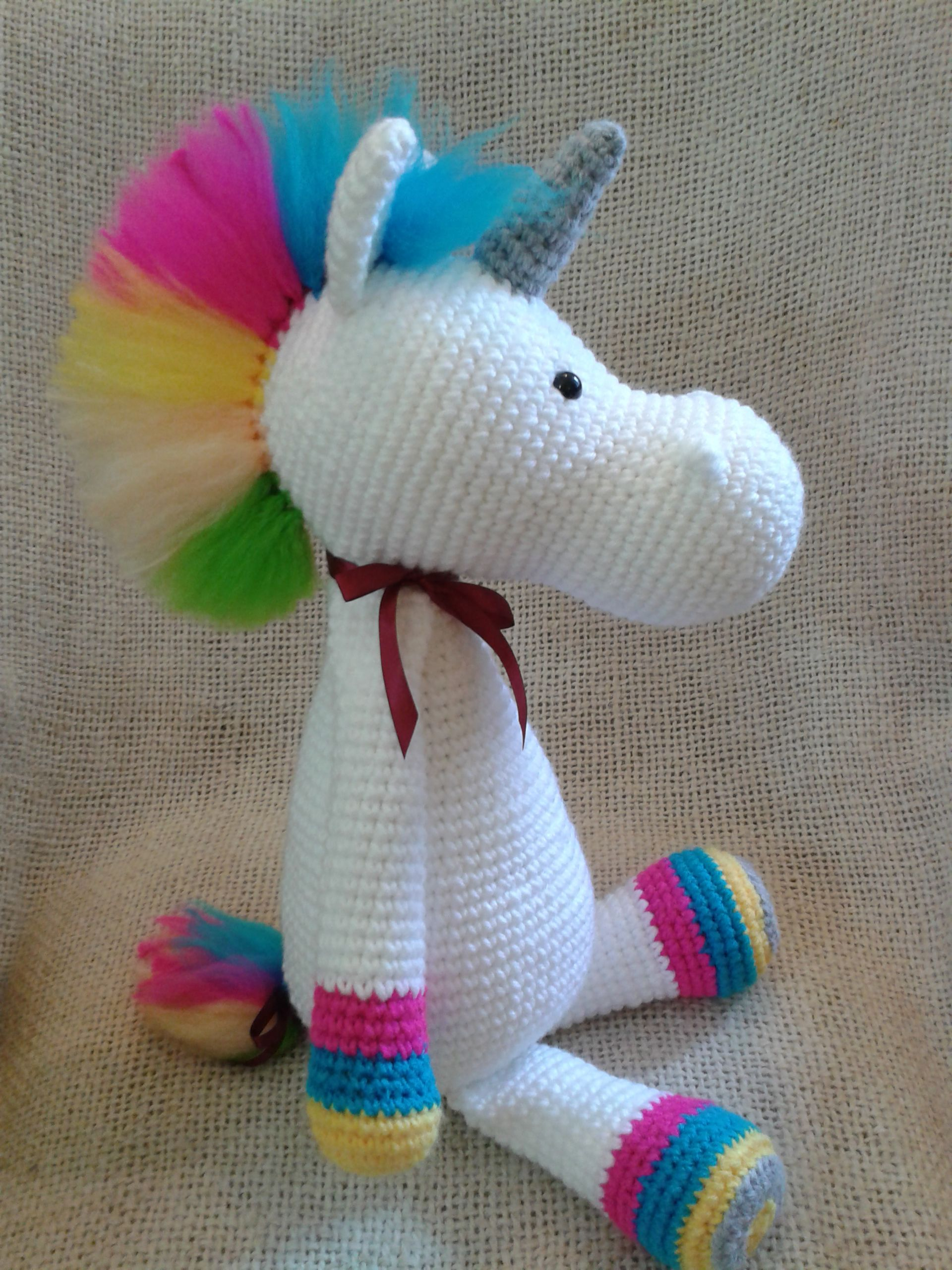 Unicornio RINGO - #amigurumi - 55 cm. - Patrón \