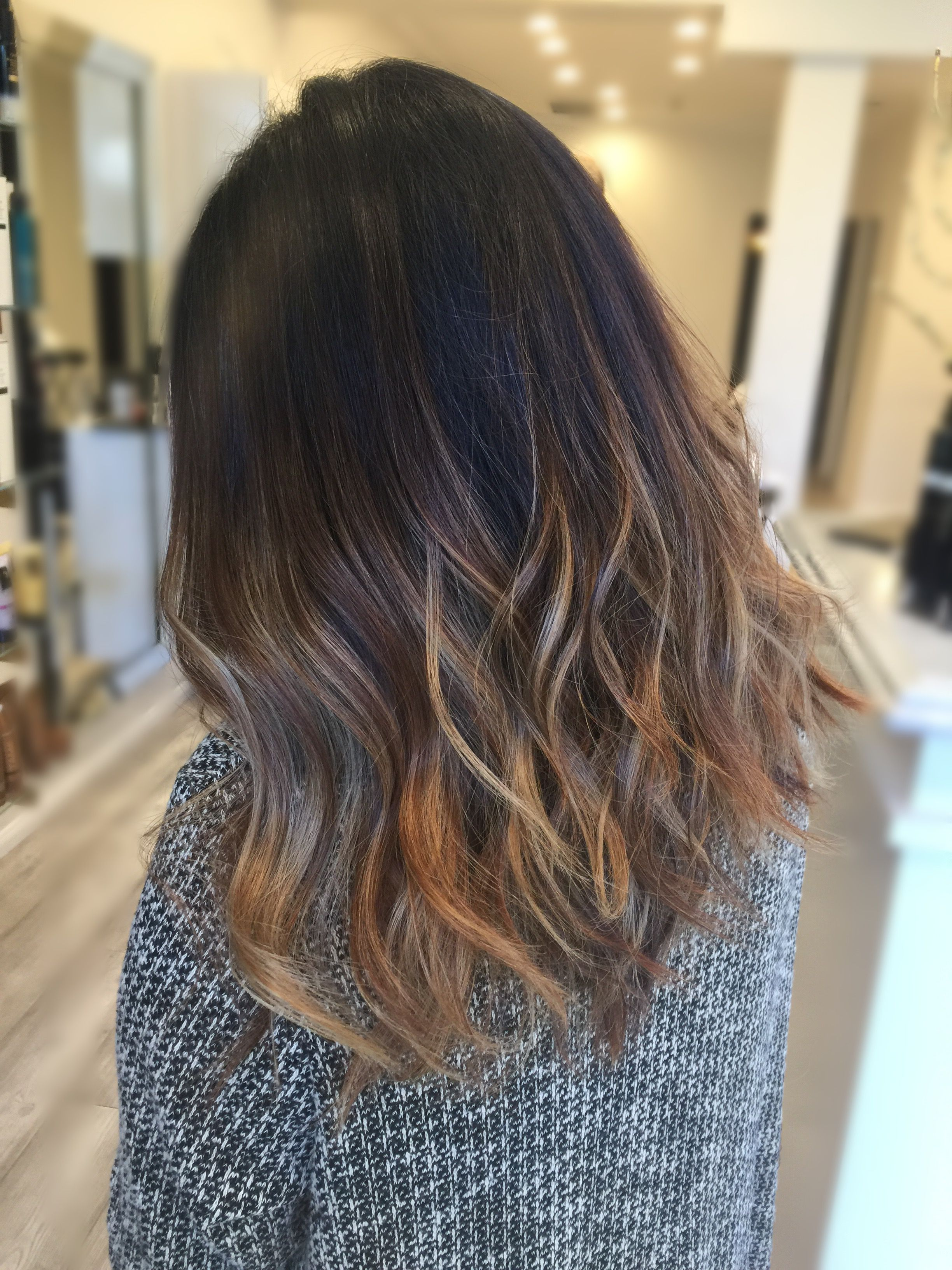 Asian Hair Balayage By Me Pinterest Asian Hair