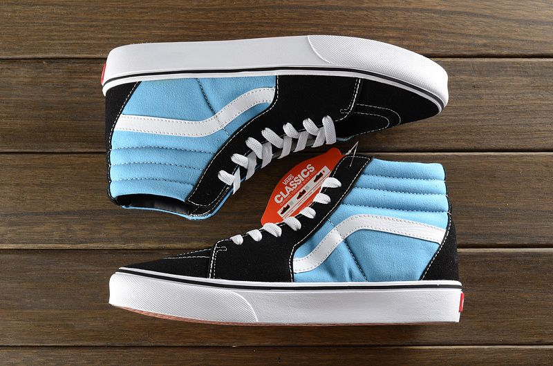 4a534a5b855287 Day cat with vans classic black and blue high help 36-446  Vans ...
