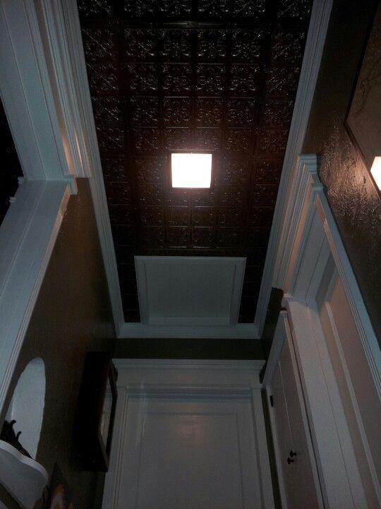 Hallway ceiling.