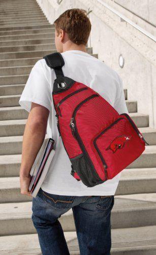 fbe9166b6828 University of Arkansas Sling Backpack Red Arkansas Razorbacks One ...