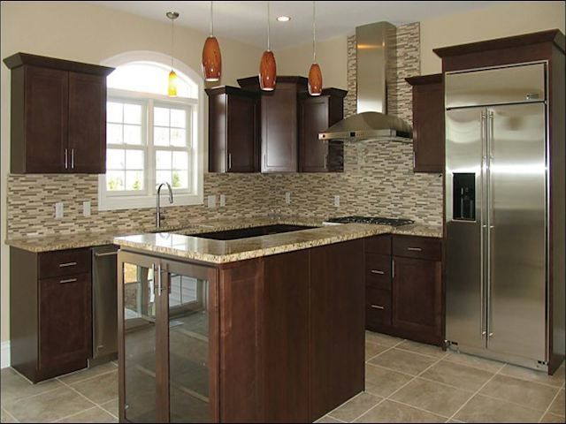 Backsplash Ideas With Santa Cecilia Granite Part - 27: Santa Cecilia Granite Dark Cabinets Backsplash Ideas. Information For  Kitchen Remodeling, Cabinets, Backsplash