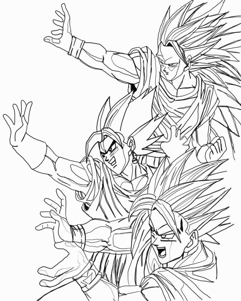 Dragon Ball Z Coloring | Coloring Pages | Pinterest