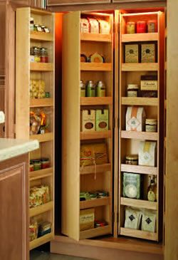 Superb Hinged Shelving Units Provide Maximum, Readily Accessible Storage In This  Well Organized Pantry.