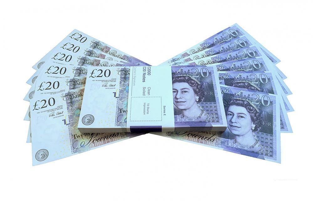PROP MONEY REALISTIC UK POUNDS GBP BRITISH ENGLISH BANK 100