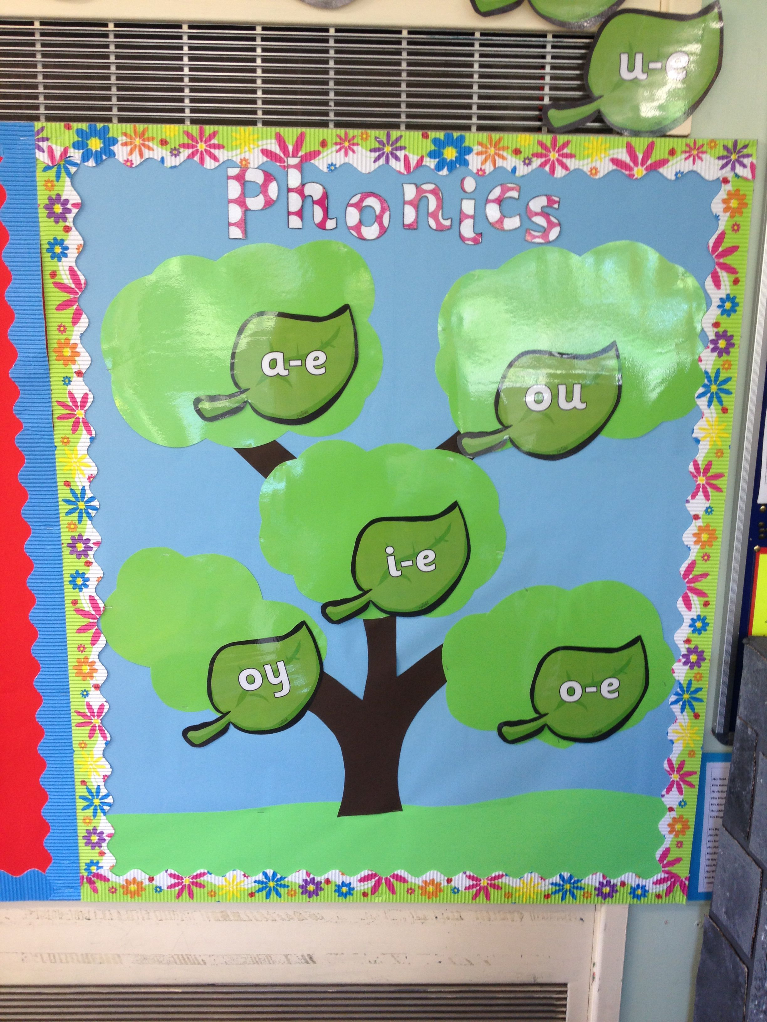 New phonics display! Phase 5 sounds! Going to as words as we go and ...