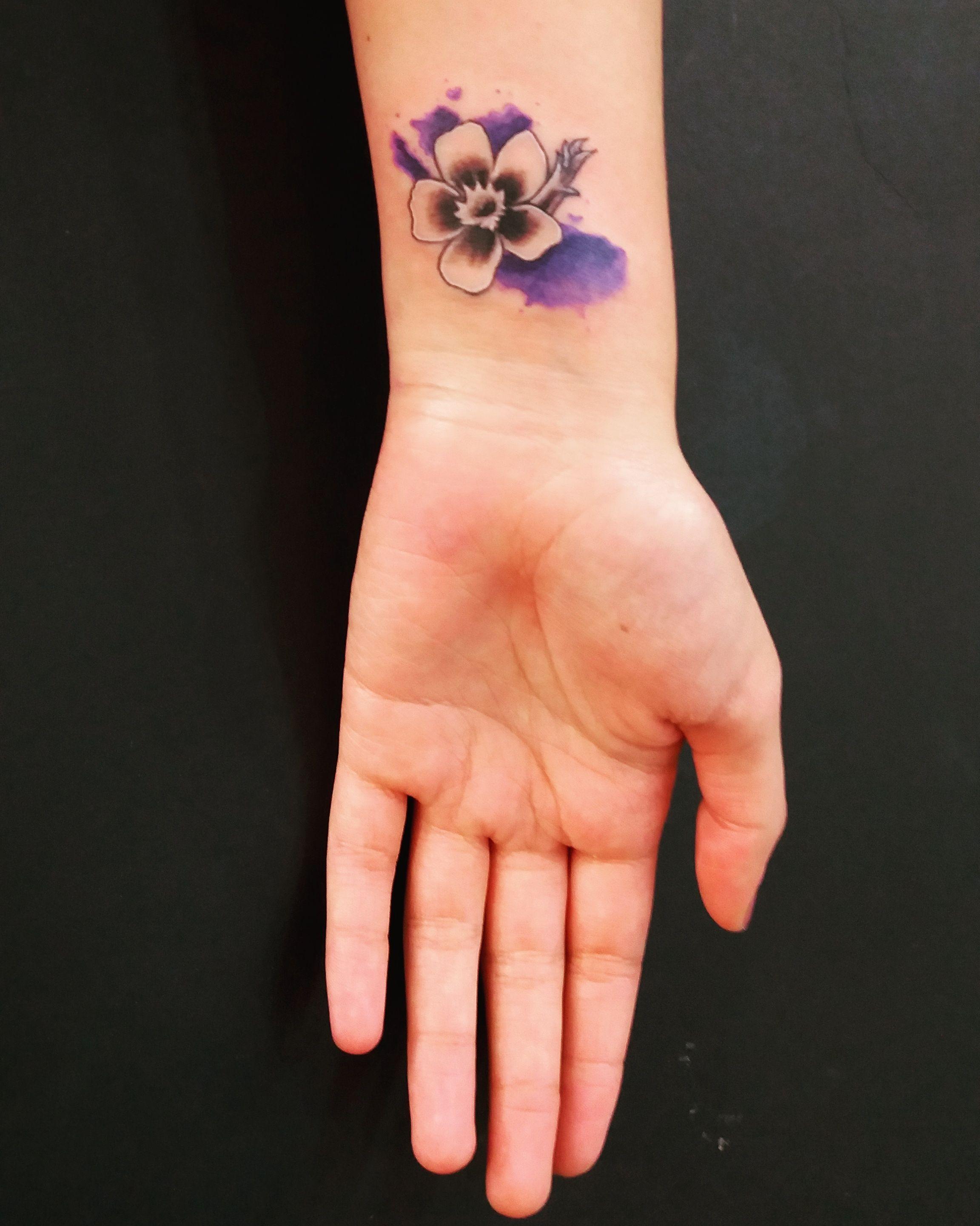 watercolor flower tattoo design simple flower tattoo