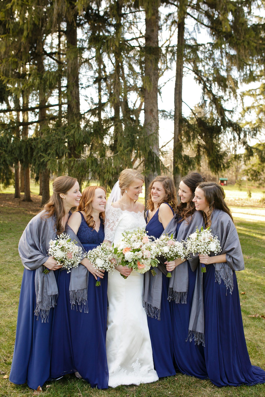 Navy Bridesmaid Winter Wedding Blue Winter Wedding Winter Wedding Winter Wedding Dress [ 2880 x 1920 Pixel ]