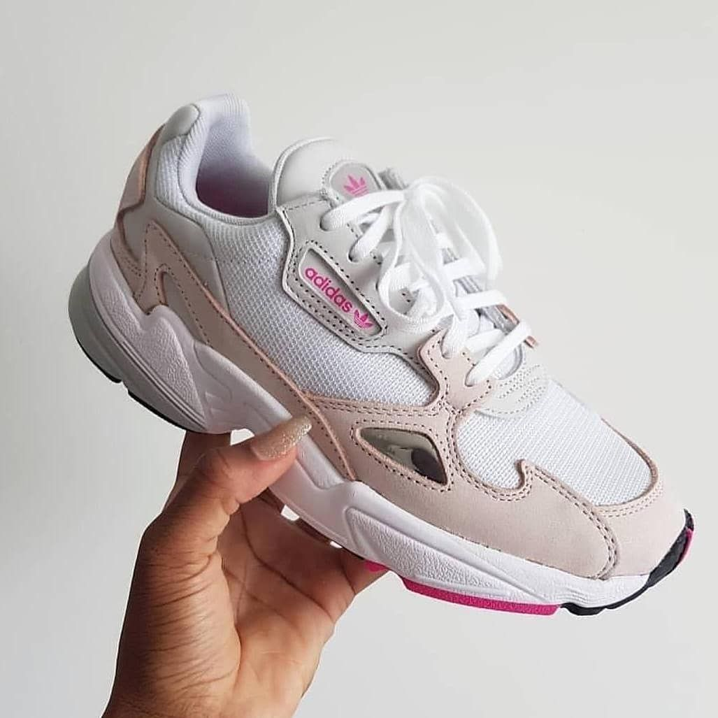 Al aire libre Garganta apodo  Limited Stock ----------- Adidas Falcon White Ice Pink Gray Rp 600,000  Premium I ...-#* #AdidasFalcon_CS   New adidas, Adidas, Sneakers