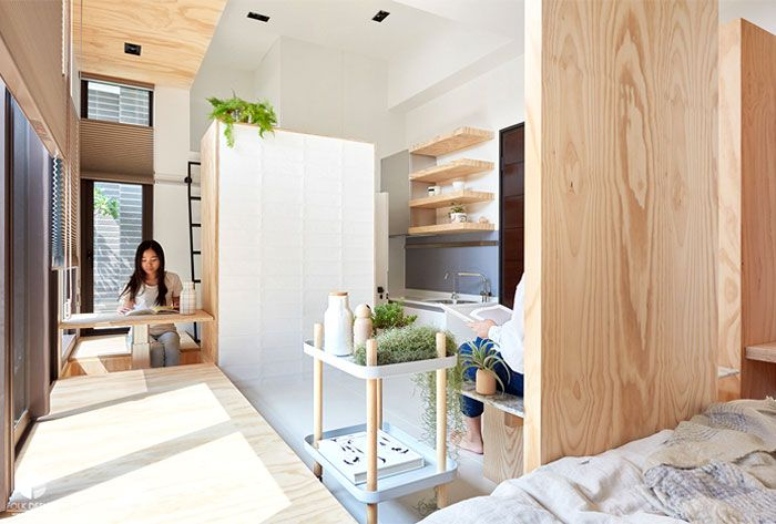 Minimalist Asian Aesthetics And Smart Functionality For Limited Living Space Apartment Interior Design Modern Bedroom Design Apartment Design