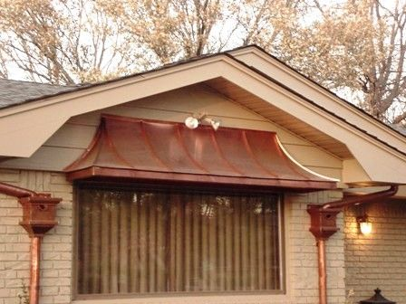 Copper Awnings Copper Summit Inc Copper Awnings Chimney Caps Pots Cupolas Finials Vents Etc Copper Awning Copper Roof House Exterior