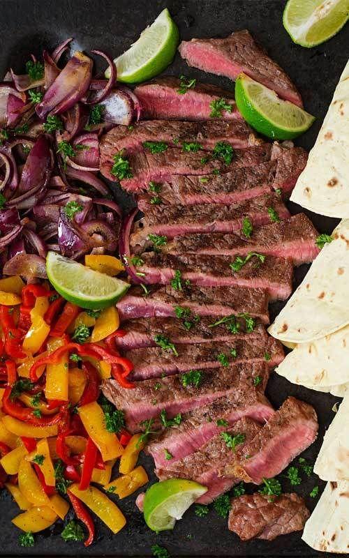 Margarita Steak Fajitas #beeffajitarecipe
