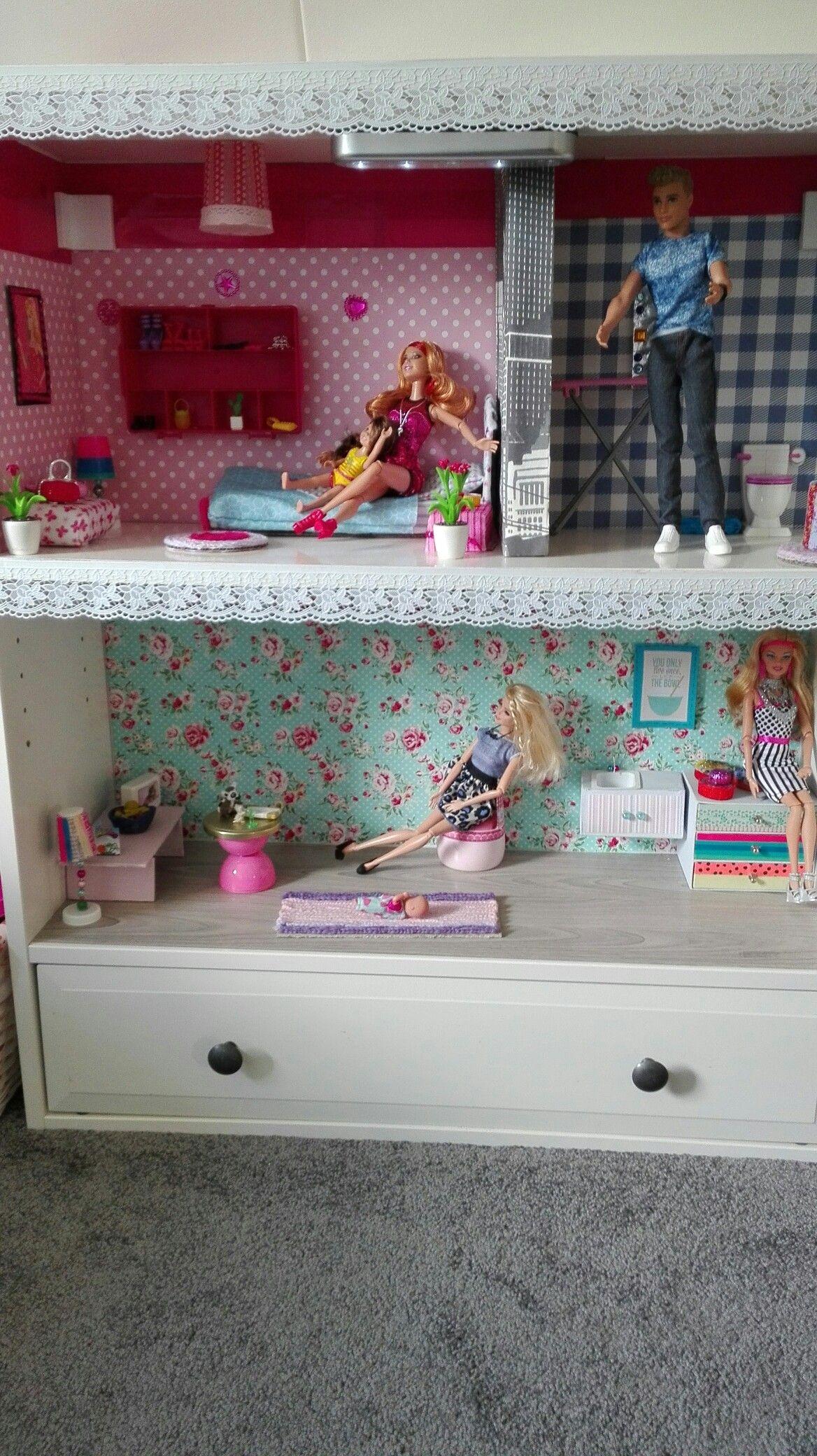 DIY barbie huis van mijn dochter