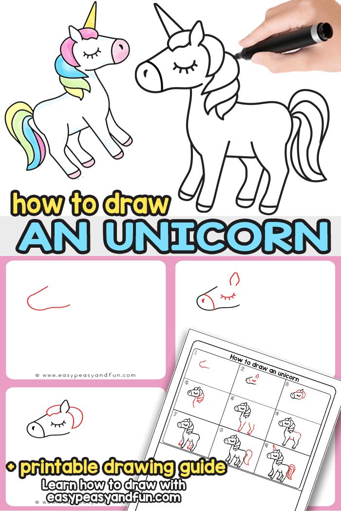 How To Draw A Cartoon Unicorn Art Hub