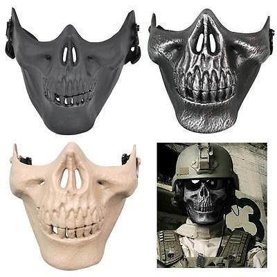 Airsoft #paintball half face protection #skull mask outdoor #tactical gear cs/par,  View more on the LINK: http://www.zeppy.io/product/gb/2/131782086885/
