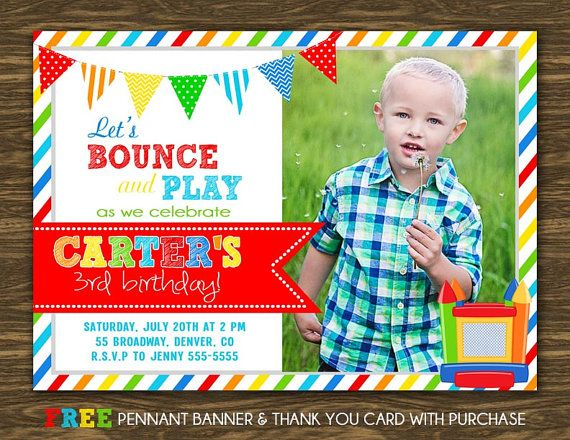 Bounce House Birthday Invitation Printable FREE by SweetGumdrop – Bounce House Birthday Invitations