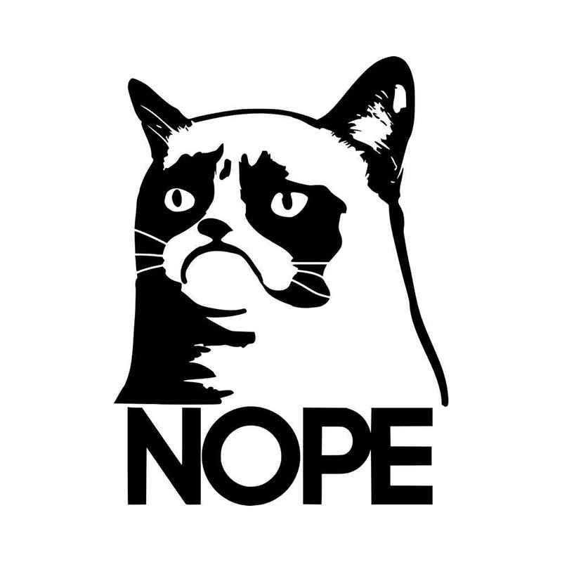 Grumpy Cat Nope Vinyl Decal Sticker BallzBeatz . com ...