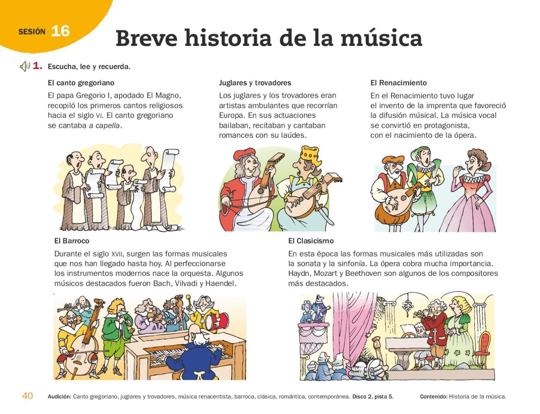 Guía 6º Actividades Musicales Aula De Música Profesor De Música