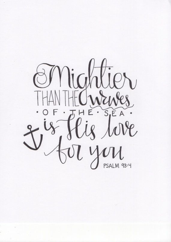Handwritten psalm calligraphy print by wildwoolco on