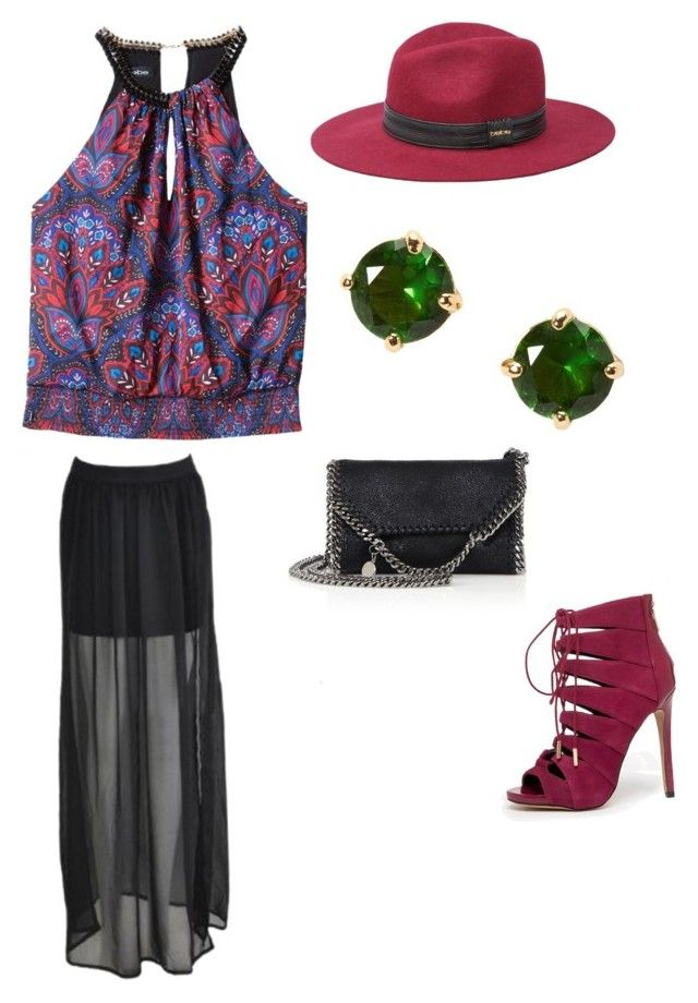 """Untitled #53"" by uniqueinaway on Polyvore featuring Bebe, Kate Spade and STELLA McCARTNEY"