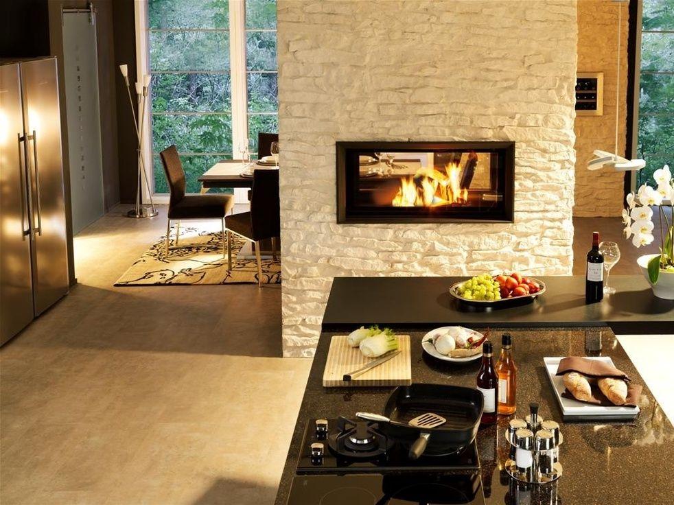 Raumteiler mit Durchblick haus Pinterest Durchblick - wohnzimmer modern mit ofen